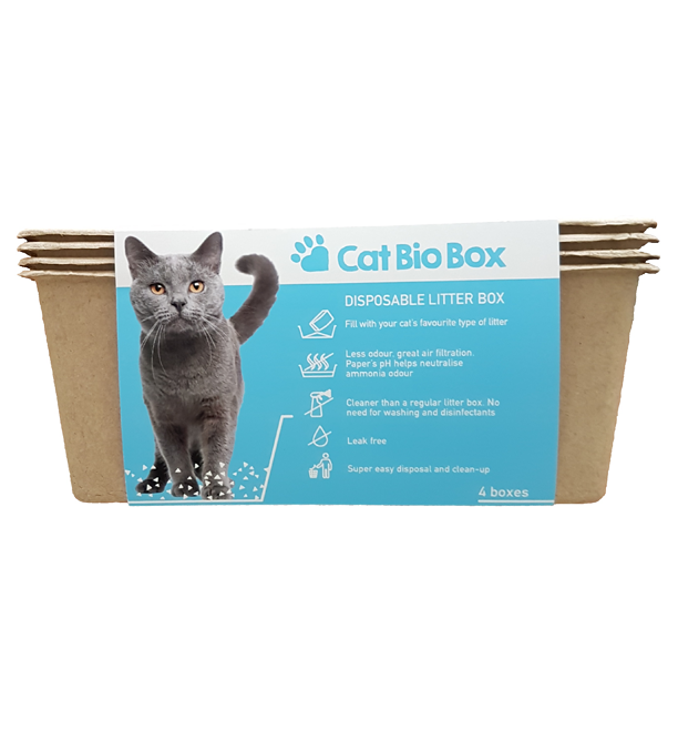 Cat Bio Box Quickly And Easily Disposable Litter Tray